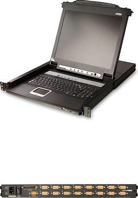 Aten 17 Inch 16 Port Lcd Kvm Cl5716m 16 port kvmp 17 inch lcd console switch cl5716m aten