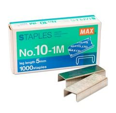 Staples Max Hd No 10 max staples no 10 1m refill becon