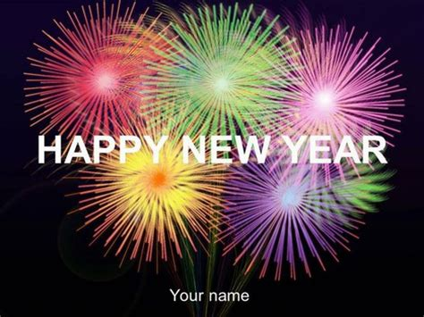 Happy New Year Template New Year Powerpoint Template