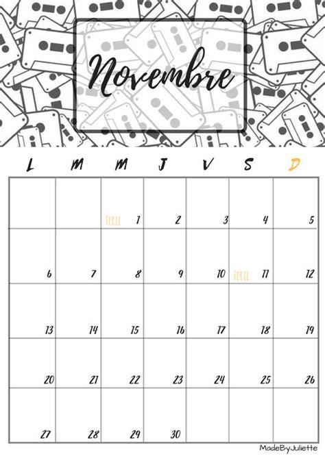 Calendrier - Novembre 2017 - Imprimes le calendrier pour