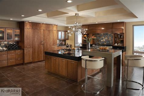 craft made kitchen cabinets kraftmaid cherry cabinetry in sunset contemporary