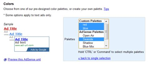 adsense quality control color codes change the color of adsense ad on each refresh