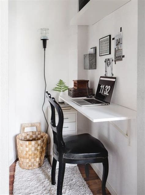 Small Home Office Desks 35 Space Saving Wall Mounted Furniture And Decor Ideas Digsdigs