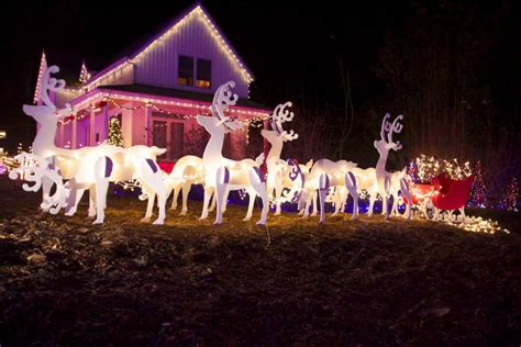 christmas light displays glitter around thurston county