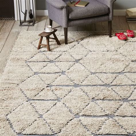 cut a rug line carla peters geo line wool shag rug west elm