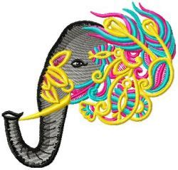 Design Custom Elephant 007 ornamental elephant 007 embroidery design