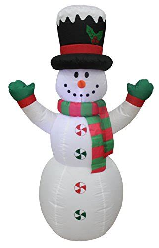 4 ft snowman christmas tree blossom inflatables 4 foot lighted snowman with hat led yard
