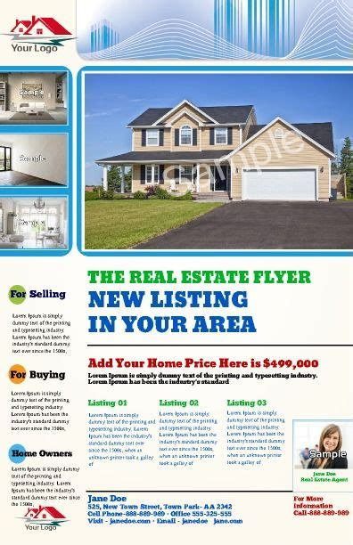 real estate listing template 17 best images about real estate posters on