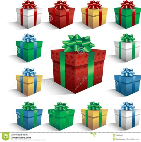 christmas gift boxes stock photography image 14584332