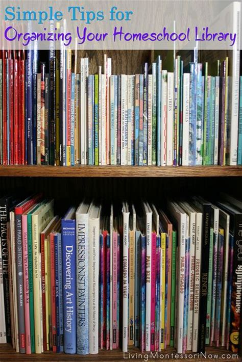 organization books simple tips for organizing your homeschool library