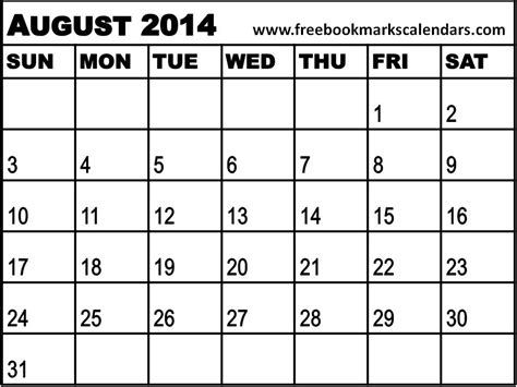 august 2014 calendar template 2013 calendar printable 16 models picture