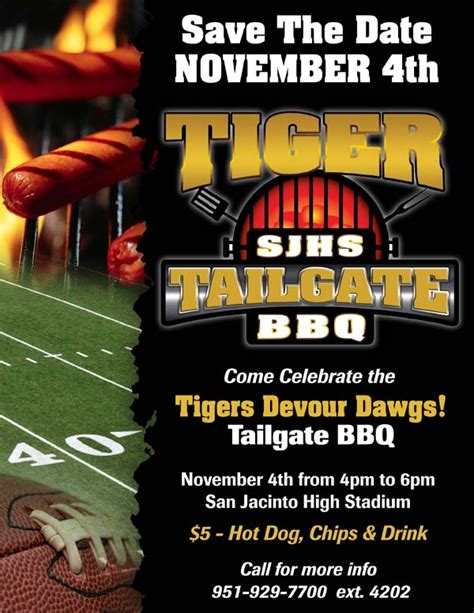 Sjhs Tailgate Bbq Flyer Graphic Design Portfolio Pinterest Flyers Tailgate Template
