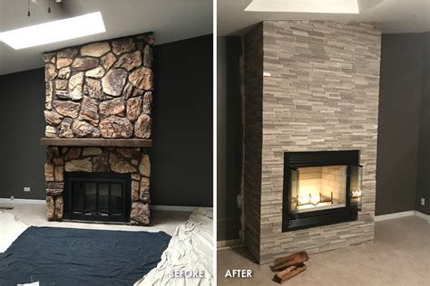 chicago brick fireplace refacing remodeling makeover