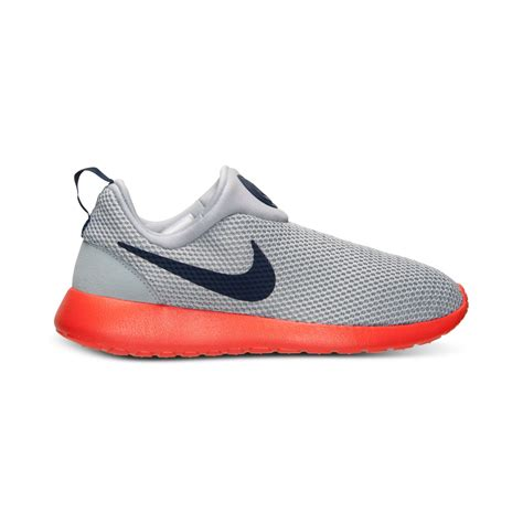 Nike Slip O white orange mens nike roshe run slip shoes