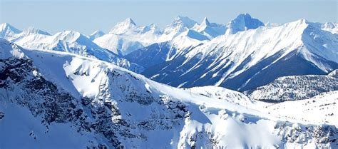 ski tracks and great mountains Facebook Cover