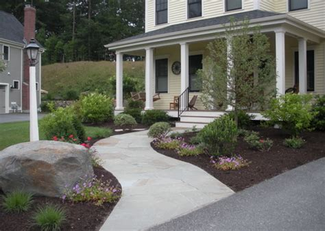 Landscaped Front Yard - front entry and barren lawn transformed 171 light and shade gardens