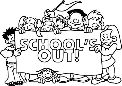 School Coloring Sheets by Schools Out Coloring Page Wecoloringpage