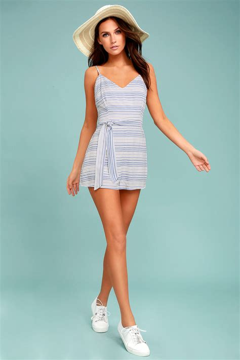 gs giana stripe romper bb dakota romper blue and white romper striped