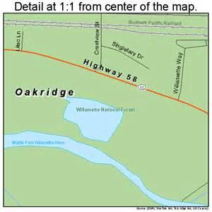 map of oakridge oregon oakridge oregon map 4154100