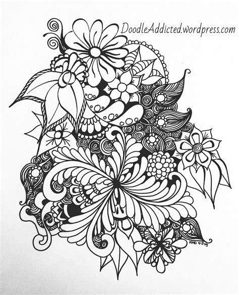 what do doodle flowers flowers doodle addicted