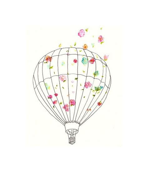 hot air balloon home decor hot air balloon art print for nursery home decor all