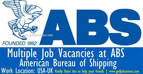 abs bureau vacancies at abs bureau of shipping