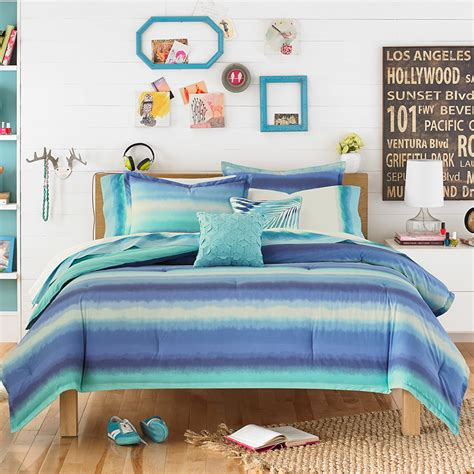 Teen Vogue Electric Beach Blue Comforter Set From