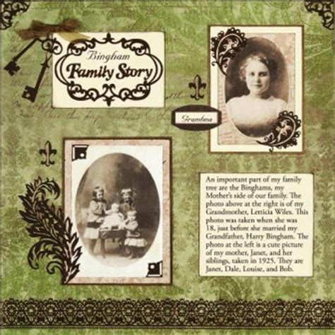sle layout of scrapbook heritage scrapbook pages