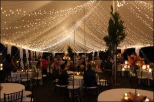 tent wedding reception with lights