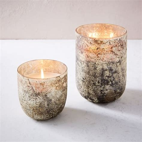 Mercury Glass L West Elm by Antiqued Mercury Glass Scented Candles West Elm