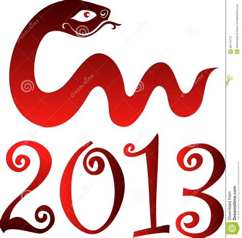 New Year 2013 Snake Year Stock Photography Image 28114712