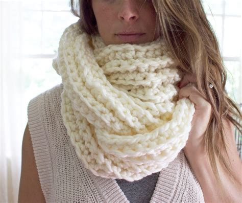 Ribbed Knit Scarf crochet pattern ribbed infinity scarf by simply maggie