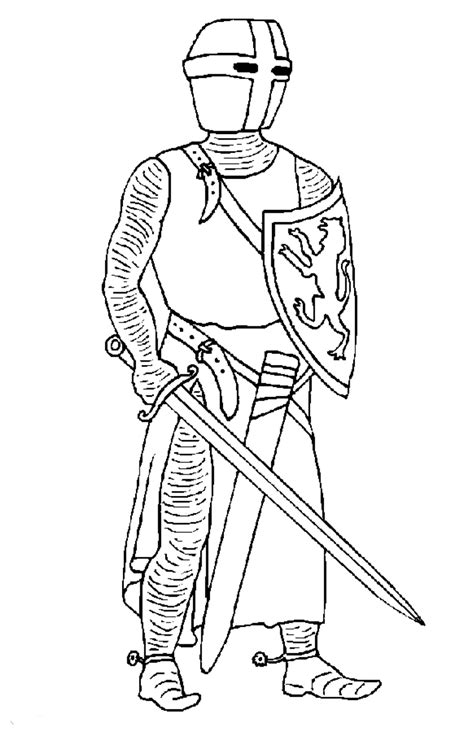 kids n fun com coloring page knights knights