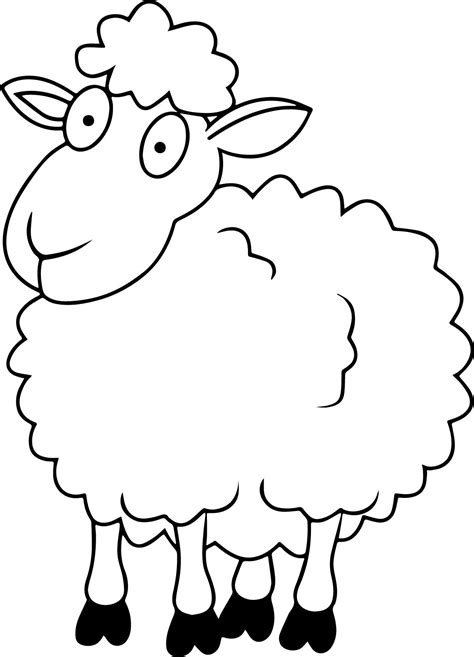 black sheep coloring pages coloring pages for free sheep outline coloring page coloring home