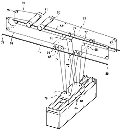 terex cranes wire rope reeving patent us6250486 integrated balanced wire rope reeving system for cargo container handling