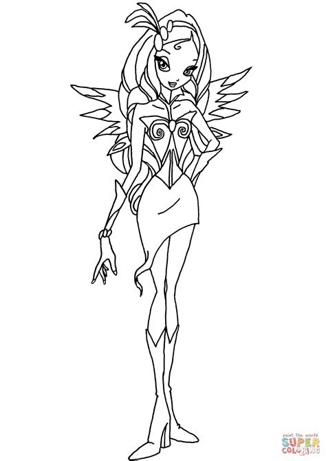 winx coloring pages winx club diaspro coloring page free printable