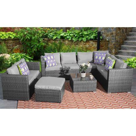 seater rattan corner garden furniture set dreams outdoors