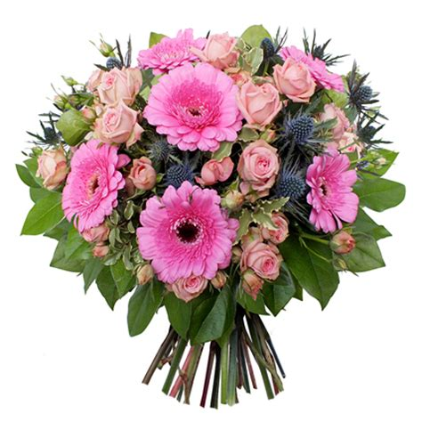 Flower Bouquet Delivery by Flower Delivery Pink Flower Bouquet