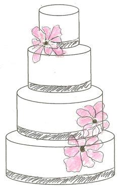 Hochzeitstorte Zeichnung by Design Your Own Cake With This Outline Of A Basic Tiered