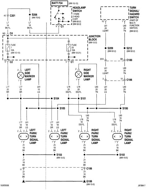 jeep wj light wiring wiring diagram with description