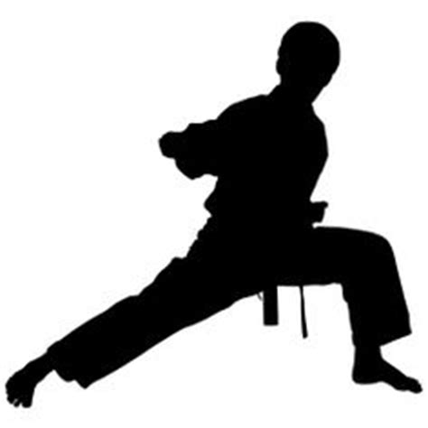 Taekwondo Axe Kick Cutting Sticker silhouette of a boy child practicing karate with a high