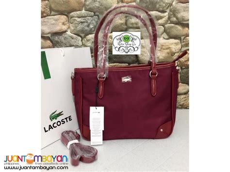 Lacoste Bag Horizontal Motif Bronze lacoste bags philippines 2018 style guru fashion glitz style unplugged