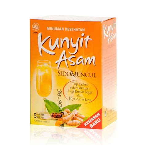 Jamu Kunyit Asam jamu kunyit asam tumeric drink for 2 boxes 5 sachets