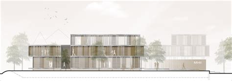ansicht architektur verwaltungsgeb 228 ude f 252 r die mhi ag a z architekten