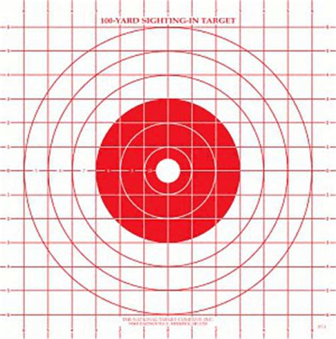 Printable Targets For Sighting In A Rifle