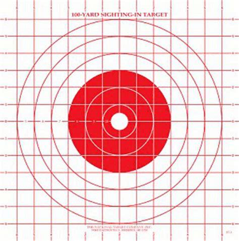 printable rifle sighting targets sighting targets