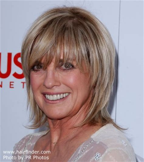 shag cuts for grey hair linda gray short razor cut shag hairstyle with a side