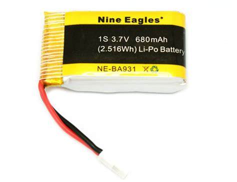 Batre Lipo Battery 3 7v 1s 680mah For Drone Syma X5sc X5sw аккумулятор nine eagles ne ba931 battery lipo 3 7v 680mah