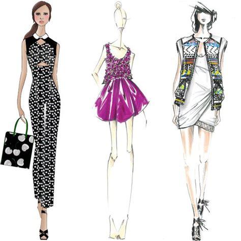 fashion illustration nyc designer sketches 2014 new york fashion week popsugar fashion