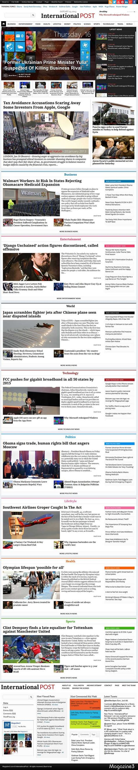 newspaper special section ideas 17 best images about magazine3 wordpress themes on